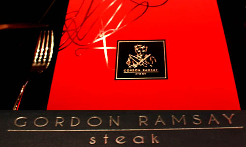 The Menu at Gordon Ramsay Steak