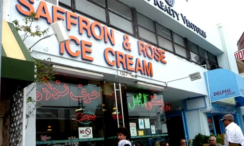 Saffron & Rose Ice-cream